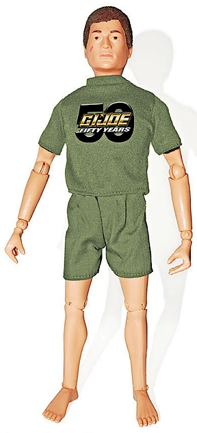 """Move along, folks. There's nothing new to see here."" Other than the transfer on his shirt, there's nothing new being offered in this latest figure from the club. Any fan could cobble this Joe together in a few minutes, and be just as happy with the results. Sadly, Hasbro is offering no alternatives, and for now, this is all collectors can look forward to for GIjOE's 50th Anniversary. (Photo: GIJCC)"