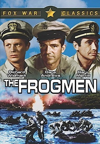 """One of the first movies made about the UDT was 1951's """"The Frogmen,"""" starring Richard Widmark. According to IMDb: This film's premiere showing was held at the U.S. Naval Amphibious Base, Little Creek, Virginia. The Underwater Demolition Team the frogmen in the film belong to is UDT-4 (some members of the team wear utility jackets with artwork of a large number """"4"""" and a shark on the back). The real UDT-4 in World War II saw combat in the invasions of Okinawa, Saipan, Guam, and the Philippines. Like the fictional Team in the film, the real UDT-4 had one of their boats hit and sunk by Japanese fire at Leyte, and left a sign on the beach at Guam to welcome the invading Marines. 1 of 1 found this interesting Interesting? YesNo   Share this Share this: Facebook     Twitter     Permalink Hide options Opening credits: This is a true story based on incidents which occurred in the latter part of World War II. It deals with one of the most hazardous and unique branches of the Armed Forces---- the Underwater Demolition Teams. Is this interesting? Interesting? YesNo   Share this Share this: Facebook     Twitter     Permalink Hide options"""