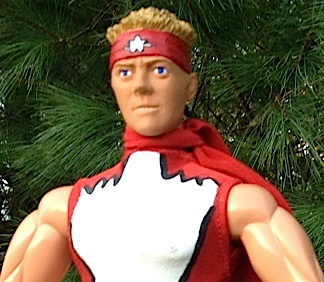 This close-up of Stork's one-of-a-kind, 1:6 scale Hyper-Strike action figure reveals his handcrafted costume and custom headsculpt. WOWZA! (Photo: John Stork, exclusive to The Joe Report)