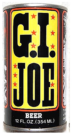 "While older fans may remember that the name ""G.I. Joe"" was first applied to soldiers in WWII and then subsequently to Stars-n-Stripes' comic strip characters, ""Willie and Joe,"" it's probably not a good idea to use this name for alcoholic beverage purposes. ""But Dad, It says GIjOE! Why can't I drink it?"" HA! (Photo: )"