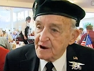 In this closeup, you can see the Trident badge awarded to John Spence by the US Navy SEALs. (Photo: KTVZ)