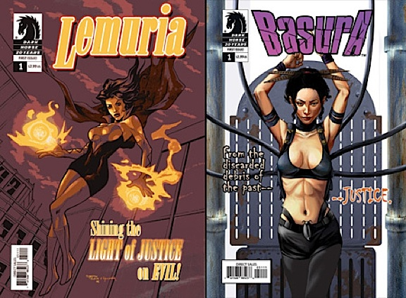"These prototype comic book covers showed GREAT merchandising potential for both Season 1's ""Lemuria"" and Season 2's ""Basura"" characters. Imagine the action figures! (Photo: Dark Horse Comics)"