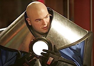 """Phillip Allen, aka """"Mindset,"""" describes his characters acute mental powers of telekinises, and that his armor is """"from the future"""" in an episode of Who Wants to be a Superhero? (Photo: Variety)"""
