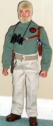 This superb custom Adventure Teamer created by Alan Grabie is wearing khaki pants with cargo pockets, a turtleneck with embroidered AT patch, and an elastic web belt—all made by Project ARE. WOW! (Photo: Alan Grabie)