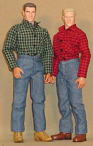 "Skip's own custom ""Hardy Boys,"" outfitted in some of Robin's superb 1:6 scale flannel shirts and bluejeans. (Photo: Skip Are)"