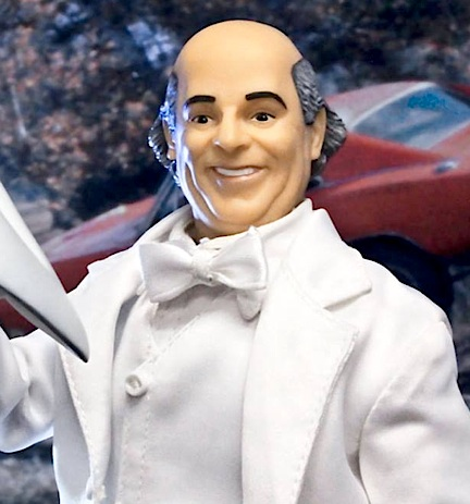 """Boss Hogg"" was portrayed a country buffoon on the show, and FTC's 12-inch version looks much the same. While we don't care much for this figure, his white suit is unique and the plastic Stetson is nicely sculpted. (Photo: FTC)"