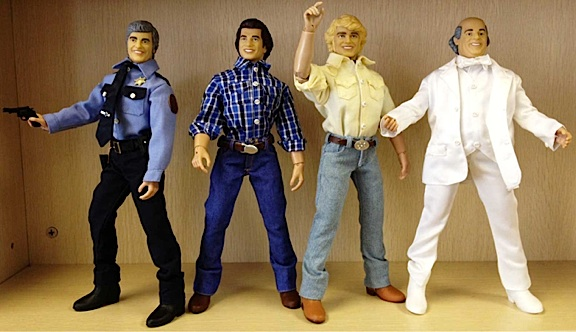 "FTC's new line of 12-inch figures based on ""The Dukes of Hazzard"" includes all the main characters except Uncle Jesse and Daisy Duke (Aw, shucks!) (Photo: FTC)"