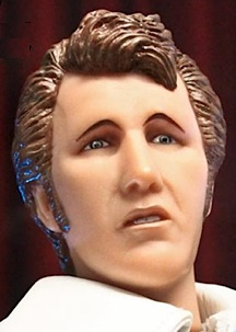 "While it may be a sufficient likeness, FTC's 1:6 scale headsculpt of Evel Knievel is nonetheless, a tad simplistic and subpar. And upturned, ""questioning"" eyebrows are never a good choice for any action figure (also see Hasbro's Ted Williams figure). (Photo: FTC)"