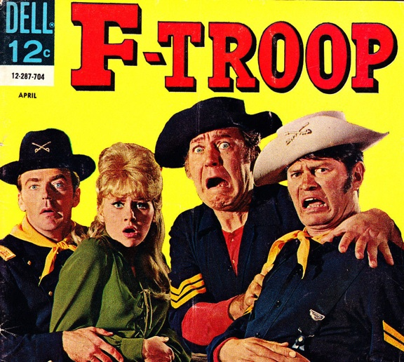"A 1960s ""F-Troop"" comic book depicts the cast with Larry Storch on the right as Lt. Agar, perhaps the most famous character portrayal of his career. (Photo: ebay)"