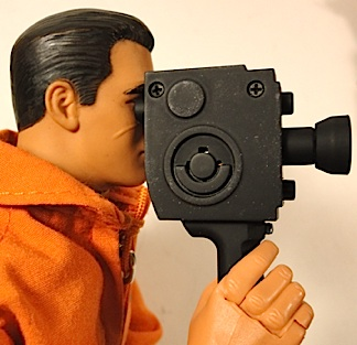The style and design of this hand-held movie camera would be right at home in any diorama from the '40s to the '70s. After that, movie cameras faded quickly as video cameras took their place. This camera is a great candidate for additional customization including paint details and decals. (Photo: Mark Otnes)