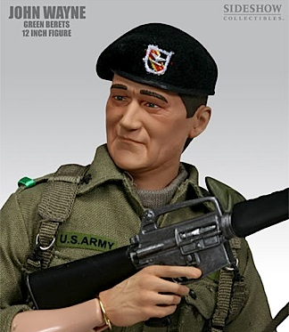 Sideshow's so-so 12-inch figure of John Wayne from his fun, but not-so-great film, The Green Berets. (Photo: Sideshow)