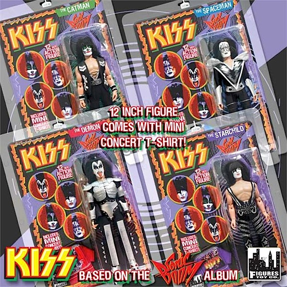 "FTC offers many variations of KISS figures, and unfortunately, the quality varies from set to set, compelling potential buyers to ""do their homework"" before deciding which versions to buy. This photo shows the company's KISS figures based on the costumes worn for the ""Sonic Boom"" album. (Photo: FTC)"