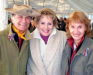 In this 2003 photo, Larry Storch poses with his F-Troop co-star, Melody Patterson (c) and his wife, Norma Storch (r). Both Storch and his wife look much as they did when I met them a few months earlier. Sadly, she died from cancer a few months later. (Photo: Blessing Moore)