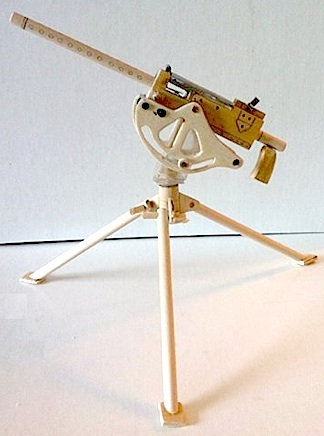 Conrad's wooden creation of the lighter, more manueverable Browning 1919A2 air-cooled machine gun and tripod would look right at home in any miliatry museum (or the hands of a 1:6 scale action figure). Just wait until it's painted! (Photo: Mike Conrad)