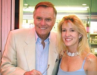 Peter Marshall and wife, Laurie Stewart. (Photo: getty)
