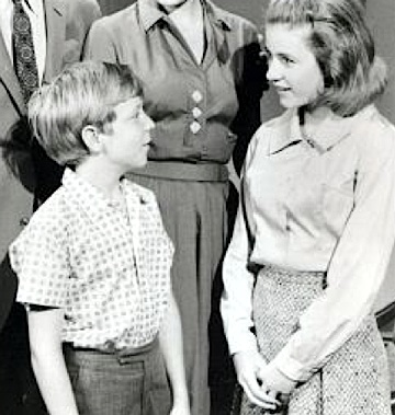 "Paul O'Keefe (left) appeared as Patty's ""annoying brother Ross"" in the Patty Duke Show. This promotional still from the show is dated 1963, which seems correct. When he appeared in the GIjOE commercial, Ross appears to be 1 or 2 years older. (Photo: ABC Television)"