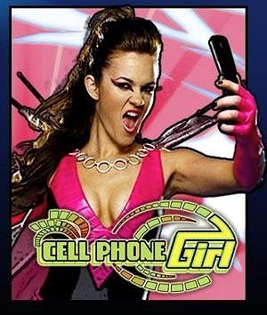 The show's producers felt Weld's character held so much potential, they even went to the lengths to create a logo for Cell Phone Girl (shown above). (Photo: Syfy)