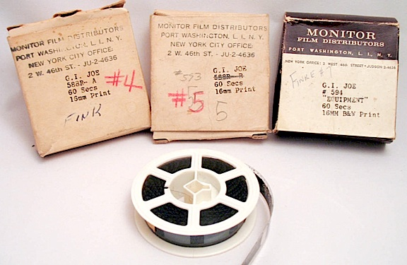 To GIjOE collectors, these precious, one-of-a-kind film reels from 1964 are worth MORE than their weight in gold. Fortunately, they're now in good hands! (Photo: Matthew McKeeby)