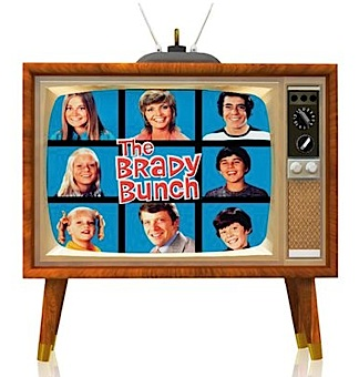 "Here's another great ""vintage"" era background item that would add a lot of fun to any 1:6 diorama. This TV ornament plays the Brady Bunch (and ONLY the Brady Bunch) 24/7. HA! With lights and sound, it measures 2.75"" h x 3""w. Marsha, Marsha, Marsha! (Photo: Hallmark)"
