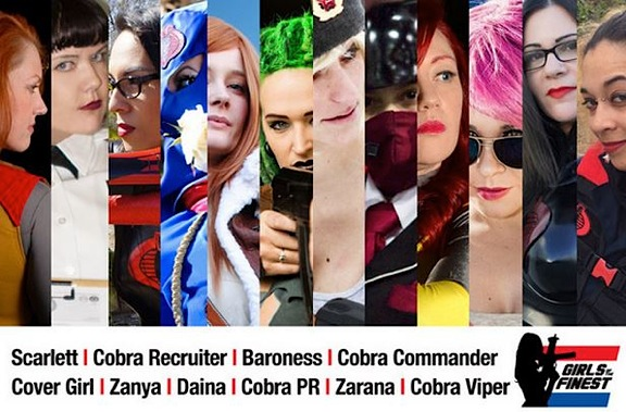 "The world's most beautiful GIjOE/Cobra cosplayers will soon combine their considerable talents in an all-new 2015 calendar called, ""Girls of the Finest."" All proceeds will benefit the ""Wounded Warriors Project."" (Photo: The Finest)"