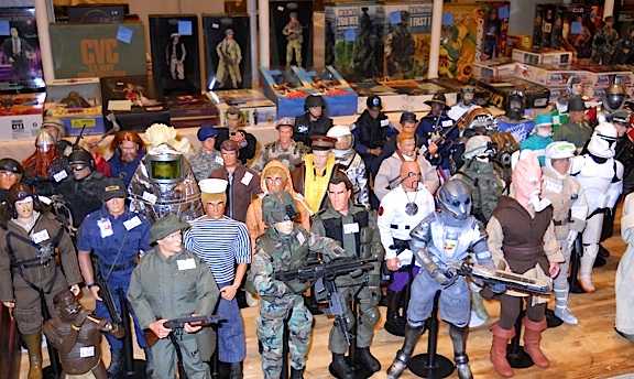 This dealer's table included 12-inch GIjOES, Action Man figures and even a group of 1:6 Star Wars characters. Sweet! (Photo: Brad Byers)