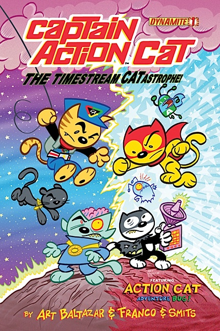 """WTF? Another example of R2/CAE's recent attempt to extend Captain Action to a new demographic is its introduction of a (rather unusual) manga comic book entitled, Captain Action Cat. What can we say about this? The decision to pour untold amounts of company money into this """"kiddie comic"""" MAY pay off, but again, most fans of 1:6 scale Captain Action will want nothing to do with it. They're not the target market. (Photo: CAE)"""