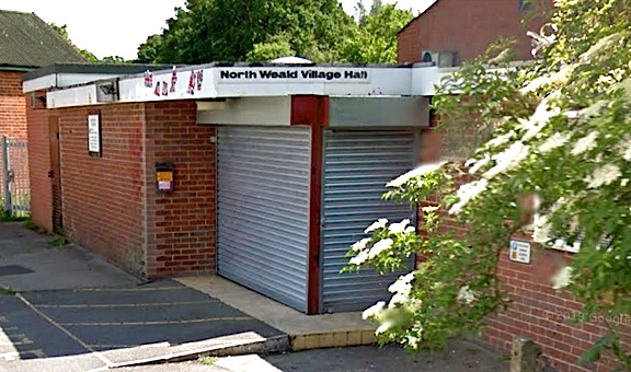 "Blimey! Security doors of the North Weald Village Hall in Essex, UK, hide the wonders that wait inside for the fans and collectors of Action Man that are fortunate enough to attend the ""Action Man Day 4"" toy show being held there on June 1st, 2014. (Photo: Google Maps)"