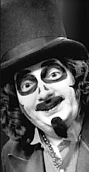 """In 2014, MeTV's """"Great Svengoolie"""" borrows much of The Great Razooly's persona and costuming, including Tom's famous black top hat. Despite the similarities, each performer is unique in their own ways. (Photo: MeTV)"""