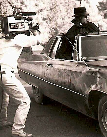 """Filming a scene for Channel 23's """"Horror Theatre."""" (Photo: Tom Razooly)"""