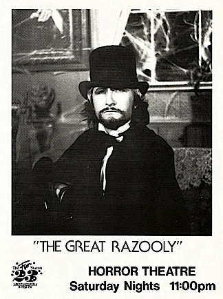 "Tom as ""The Great Razooly"" on a promotional 8×10 glossy from his show, originally broadcast from Channel 23, Eureka, CA. (Photo: Tom Razooly)"