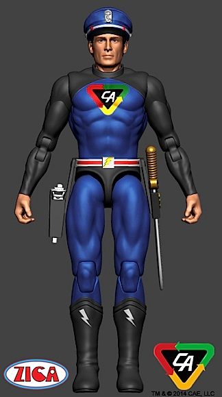 "Zica Toys released this cool computer-rendering of a proposed 3.75"" Captain Action figure. Fans of smaller scale GIjOEs will definitely be interested, but efforts spent on this scale only frustrate collectors of 1:6 scale. Still, this little guy looks to have great ""cross-over"" potential and is likely to be well received if it makes it to final production. If this brand extension is successful, it will enable R2/CAE to gain market share among yet another ""strata"" of collectors. (Illustration: Zica Toys)"