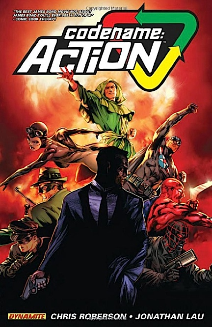 "This new comic title, ""Codename: ACTION,"" is clearly targeted more to teens and young adults, demonstrating once again how R2/CAE is trying to touch upon every possible demographic and market segment. Here, CA is clearly being refashioned into a very James Bond type of hero, replete with guns, nubile women and action galore. Great for comic fans, not so great for 1:6 scale CA collectors. (Photo: R2/CAE)"
