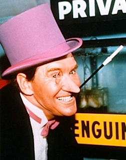 "Hollywood's ""heavy-hitters"" such as Oscar-nominee Burgess Meredith were thrilled for the chance to ""ham it up"" on the ultra-campy, Batman TV series. (Photo: Warner Bros.)"