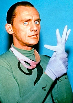 "Comedian and impressionist extraordinaire, Frank Gorshin, created an unforgettable ""Riddler."" (Photo: Warner Bros)"