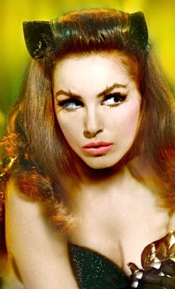 Bat and CAT fans can't wait to see all 3 versions of Catwoman in high-definition Blu-Ray, ESPECIALLY the super-sexy actress/dancer, Julie Newmar. Me-OWW! (Photo: Warner Bros)