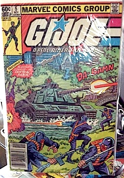 "The comic that ""started it all"" for Angelo. Issue #5 of Marvel's GIjOE. (Photo: Angelo D'Annibale)"