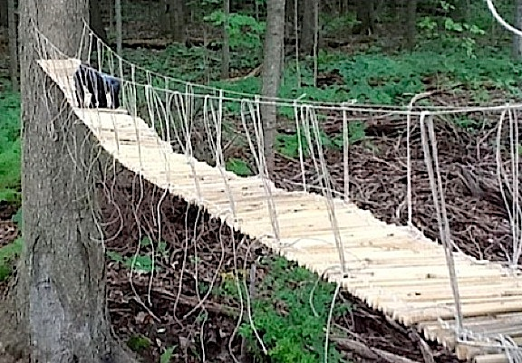 If you can dream it, you can do it! Angelo's handcrafted, 1:6 scale bamboo and rope bridge sure verify that. Simply mind-BOGGLING! (Photo: Angelo D'Annibale)
