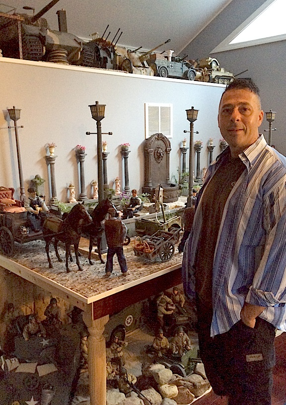Angelo D reveals how he manages to store extra figures and props above and below his current diorama display table. Absolutely ingenious! (Photo: Angelo )