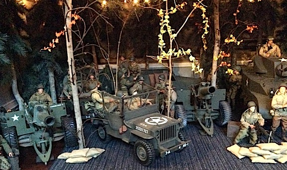 The lower-level diorama currently on display in Angelo's Joe Room is this superb homage to the Battle of the Bulge. (Photo: Angelo D'Annibale)