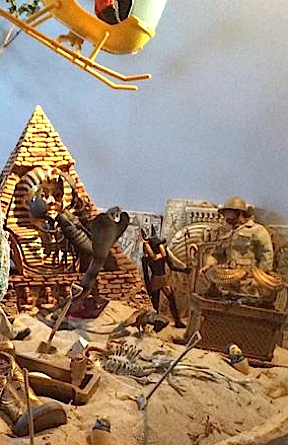 One of Angelo's upper-level dioramas features this exciting Search for the Mummy's Tomb set-up. (Photo: Angelo D'Annibale)