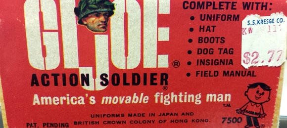 "The end of the ""Dearborn Joes"" Action Soldier box reveals the original price paid for this ""Lost Joe"" by the museum's 1965 curator. (Photo: City of Dearborn)"
