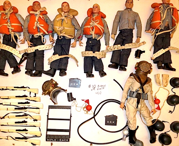 With over 100 figures, we couldn't begin to show them all, but here's a nice group of vintage sailors, just waiting for the loving attention and TLC of a devoted collector! (Photo: Jonathan DeSimone)