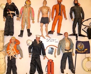 With over 100+ figures in the auction, we can't show them all to you here. But take a look at this second batch of vintage sailors and everything they come with. Click to enlarge! (Photo: Jonathan DeSimone)