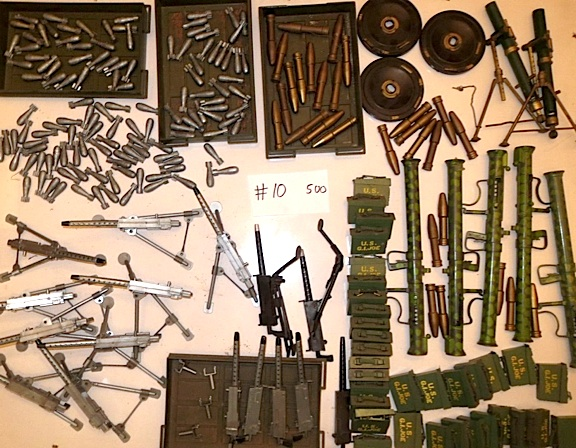 When DeSimone found something he liked, he often bought multiple copies of it, as this photo of assorted vintage weapons reveals. (Photo: Jonathan DeSimone)