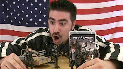 "Many fans are dumbfounded by Hasbro's lackadaisical treatment of the GIjOE brand and franchise. According to one fan's review of a new GijOE video game: ""G.I.Joe deserves more than this, here we have yet another ""straight-to-the-bargin-bin"" Movie Tie In game. With a broken camera, repetitive game play and poor graphics you'll swear the game is a plot by Cobra Commander to cause pain to those dumb enough to buy it full price."" (Photo: angryjoeshow)"
