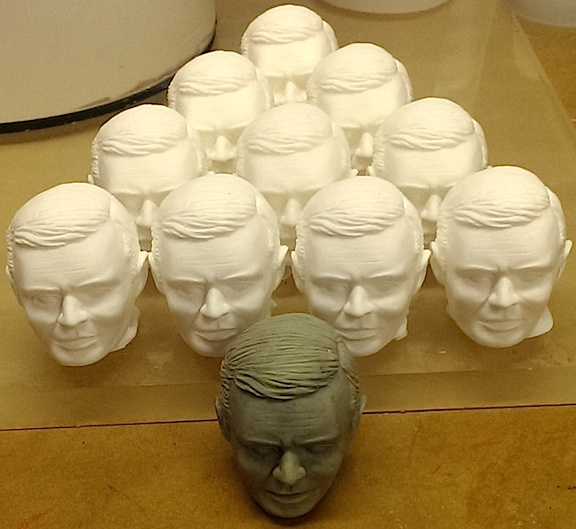 "Holy, WOW! Look at all the fantastic resin copies of ""Rocky,"" as casted by famed resin master, Austin"