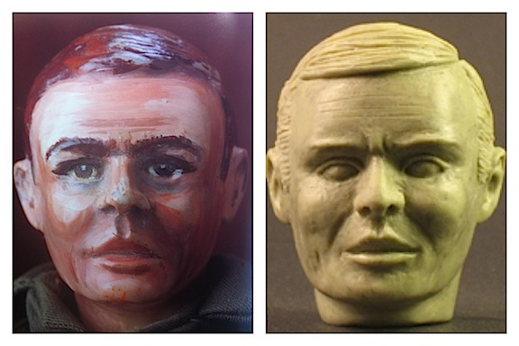 Covalt's revised head sculpt was ready for recasting in resin. (Photo:Bill Lawrence)