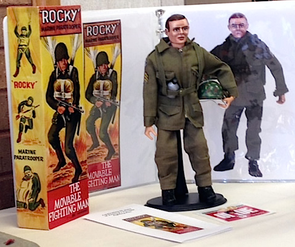 "Bill Lawrence's beloved, custom ""Rocky"" figure BARELY made it to his own debut at the DFW Joe Show. Thankfully, he showed up in full gear and a custom box, to boot! (Photo: Bill Lawrence)"