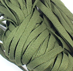 You never know where you'll find parts or materials ideal for use in creating custom figures. These common olive-drab shoelaces proved to be perfect for part of the backpack assembly. (Photo: Bill Lawrence)
