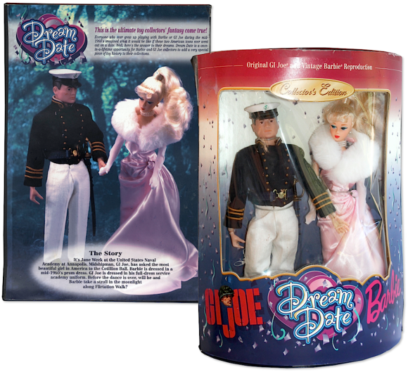 "A GIjOE ""Dream Date"" Barbie combo set? With a Naval Cadet figure? Heck yeah, we'd buy that! Opening bid for this  unusual ""one-of-a-kind?"" $3,500! (Photo: NDSA)"